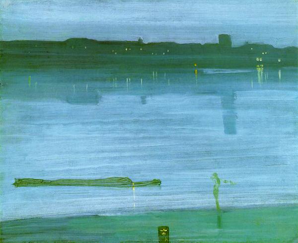 "Ноктюрн: синий и серебро - ""Челси"" 1871. Уистлер. корректную цветопередачу не гарантируем"
