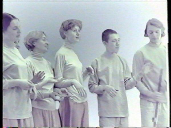 История Российского видеоарта. Том 2. Фрагмент одного из видео. с сайта museum.ru