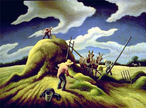 Томас Харт Бентон Haying. 1943 г.