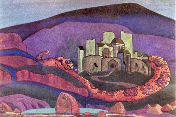 Град обречённый. 1914. находится в Омском областном музее изобразительных искусств им. М.А. Врубеля. Темпера