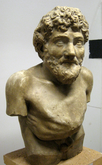 Aesop. Cast in pushkin museum from original in Art Collection of Villa Albani, Roma