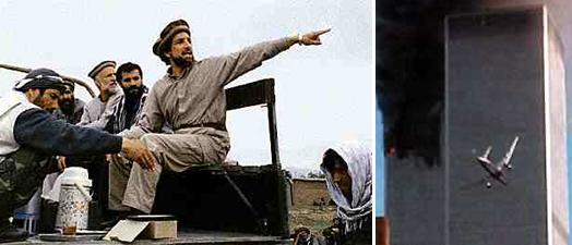 Слева Ахмад Шах Масуд что-то увидел: вон. Учитываю разницу часовых поясов, теракт в Афганистане опередил теракт в США немногим боле чем на сутки. Время, видно, было дорого