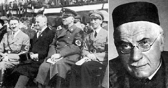 Слева Гитлер, обер-бургомистр Лейпцига Гёрделер, гауляйтер Мутшман и Геббельс на Вагнеровском мемориале в Лейпциге в 1934 году. Из Кольца Нибелунга Рихарда Вагнера Вотан и явился при своем возрождении в Германии. Об этом пойдет речь в одном из следующих тестов. Справа Карл Густав Юнг. Обратите внимание на его правый глаз (тот, что ближе к соседней картинке). Таким взглядом смотрит на мир Осьминог
