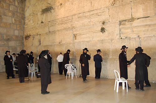 Евреи у Стены плача в Иерусалиме