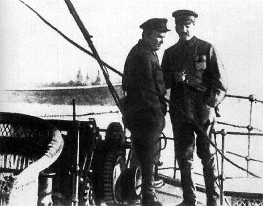 Сталин и Киров на Беломорстрое