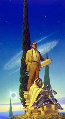 Проектируемый Осьминогом памятник Айзеку Азимову. Разумеется, с роботом, очень похожим на смерть