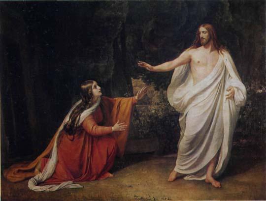 Явление Христа Марии Магдалине после Воскресения. Александр Иванов