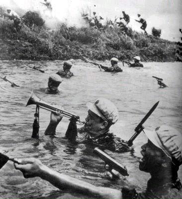50-е годы, Корея, китайская пехота наступает