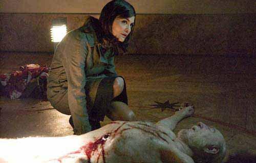 Бедная принцесса Софи над телом своего мнимого дедушки, убитого в Лувре агентом Opus Dei. Пуля в животе, звезда, начертанная собственной кровью, на груди и последняя мысль в голове - о тайне священной ДНК