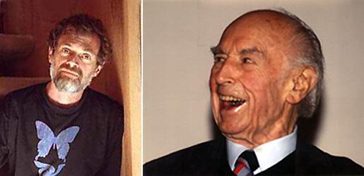 Слева Теренс Маккена. Справа Альберт Хофманн. Он открыл ЛСД и выделил в чистом виде псилоцибин. На этой фотографии ему уже более ста лет