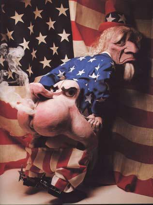 Уотергейт. Карикатура на американского президента Никсона в исполнении Валерия и Оксаны Белозеровых. Что им Гекуба?.. Никсон совсем не похож, но суть ситуации, выявляемой фантазийным анализом Ллойда де Моза, передана очень точно