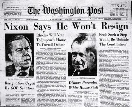 Никсон не хочет уходить