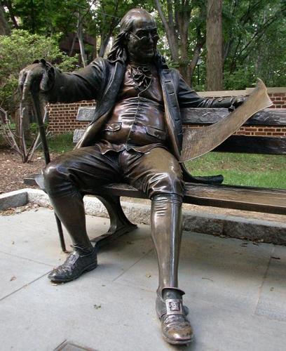 Бенджамин Франклин. Бронза