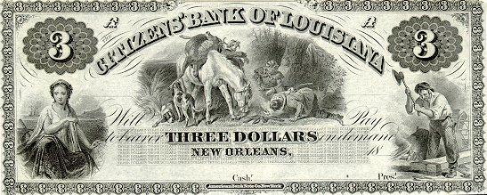 Интересная долларовая бумажка из Нью-Орлеана