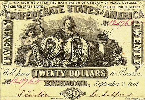 Двадцатидолларовая банкнота конфедератов