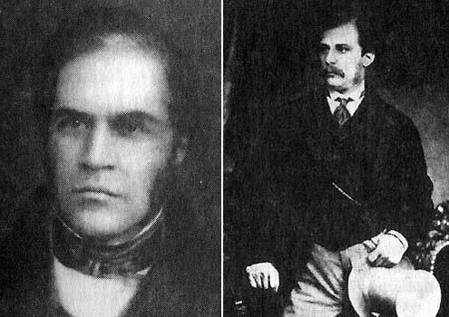Справа Джон Пирпонт Морган в молодости, слева его отец Джуниус Спенсер Морган