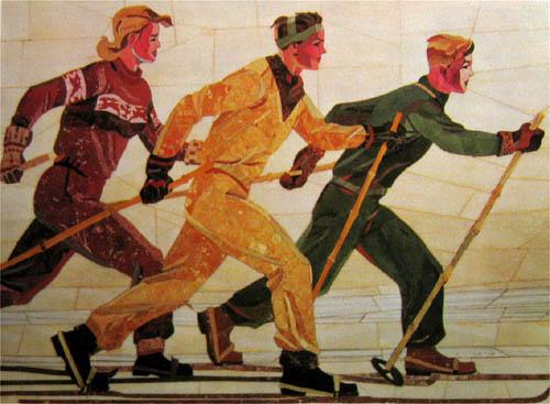 Дейнека Лыжники (1950)