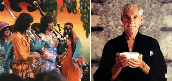 Слева хиппи 60-е годы. Справа Тимоти Лири 80-е