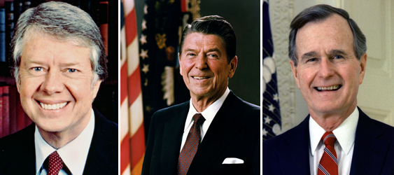 Джими Картер, Рональд Рейган, Джордж Буш старший. Нет, этим молодежь не могла подражать