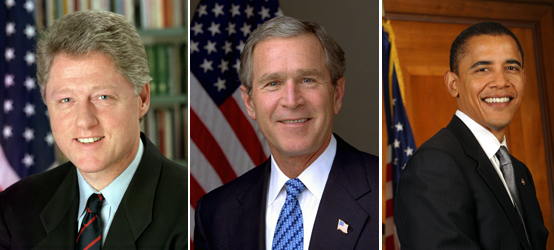 Клинтон, Буш, Обама