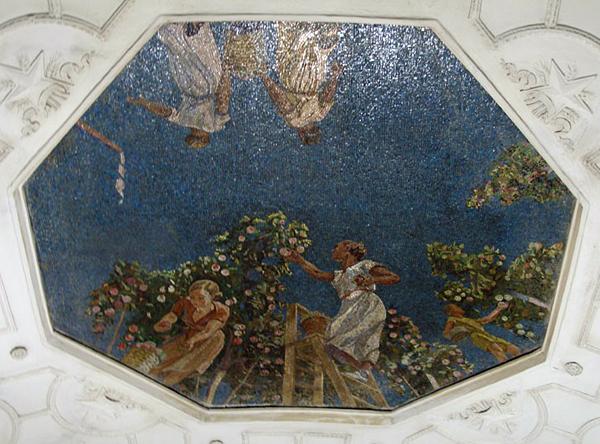 Дейнека. Небо. Мозаичное панно на станции метро Новокузнецкой (1943)