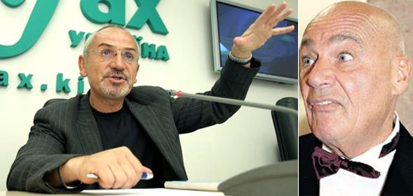 Слева Савик Шустер, на Украине он отчасти стал похож на запорожца. Справа Владимир Познер. Тоже умеет менять лицо