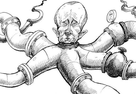 Газовый Осьминог. Вот такие картинки появляются уже сейчас в западных СМИ