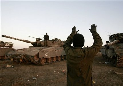 Танки Израиля в секторе Газа