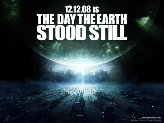 Постер фильма День, когда Земля остановилась. И ведь дата 12.12.08 тоже о чем-то говорит
