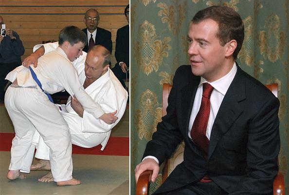 Путин проводит прием. Медведев в даосском состоянии
