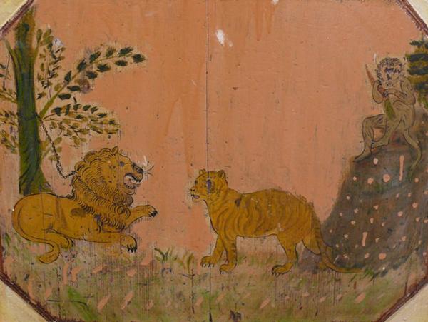 Когда сцепились крупные кошки, обезьяне лучше устроиться на дереве и наблюдать