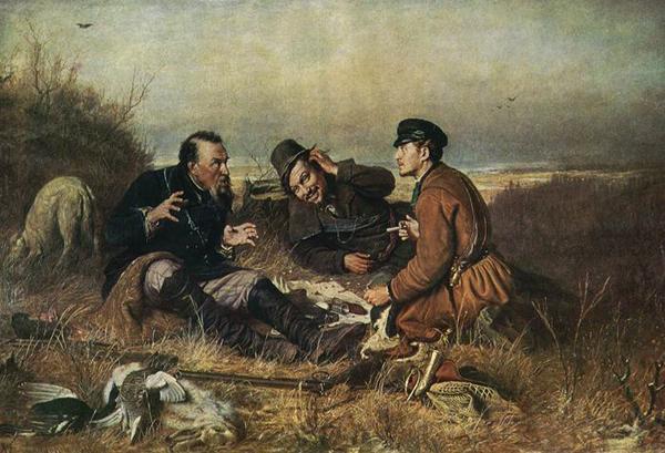Охотники на привале. Василий Перов