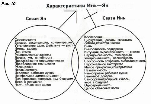 Рмс. 10. Связи Инь - Ян