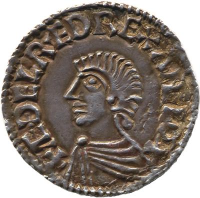 Англо-саксонский пенни 997—1003 г. с портретом Этельреда
