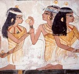 Пирующие девушки. Гробница Нахта. 18 династия