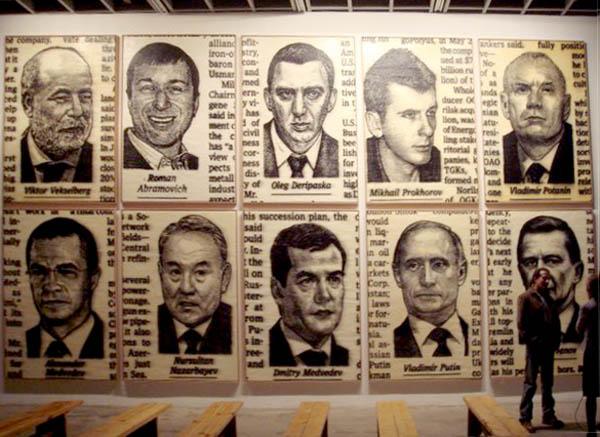Постсоветская элита. Кадр с какой-то выставки современного искусства