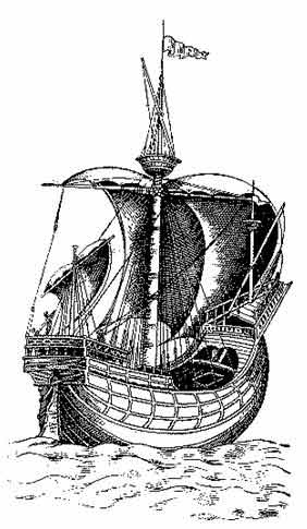 Венецианский корабль тех времен, неф