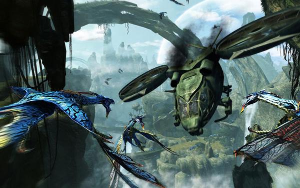 Пандора: вертолет землян против летающих животных, используемых пандорцами для верхового полета
