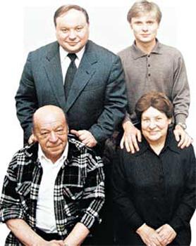 Гайдары: Егор, его сын Петр, его отец Тимур, его мать Ариадна