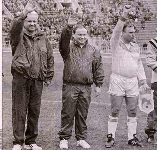 Спортсмены: Ельцин, Гайдар, Бурбулис