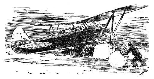 Героические будни полярных летчиков. Рисунок К. Арцеулова