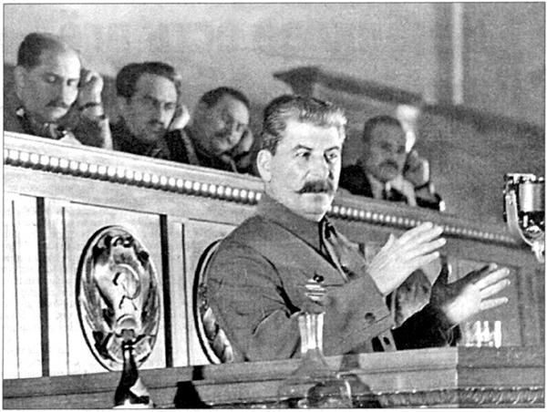 Сталин на съезде стахановцев