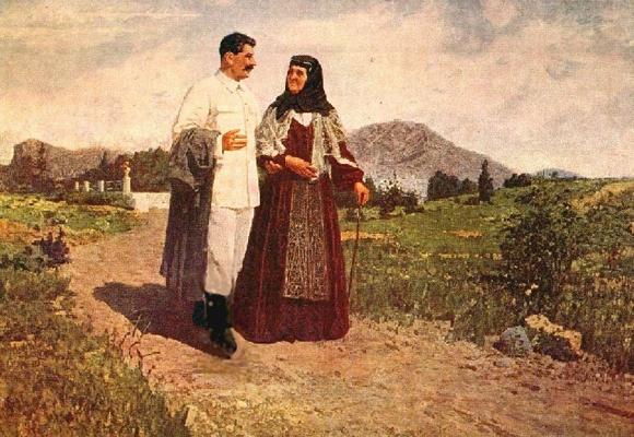 Сталин с матерью