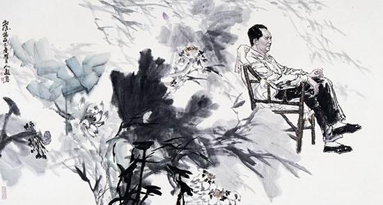 Картина из цикла Деревенская жизнь Мао Цзэдуна. Художник Ли Жэньи