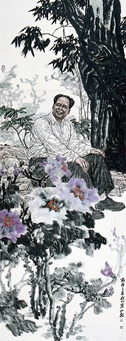 Ли Жэньи. Картина из цикла Деревенская жизнь Мао Цзэдуна