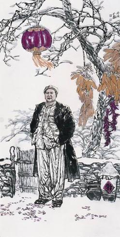Из цикла Деревенская жизнь Мао Цзэдуна. Художник Ли Жэньи