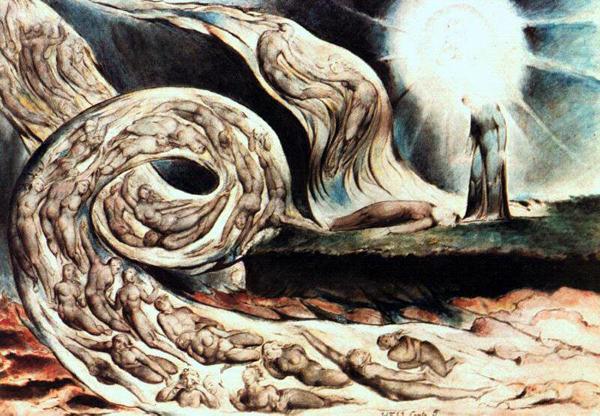 Развитие потоков человечества. Кажется именно это хотел изобразить Уильям Блейк на своей картине