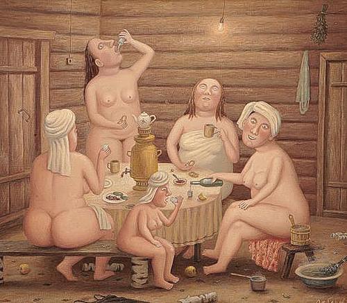 Общество гражданок. Картинка художника В. Любарова