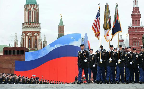 Американцы на Красной площади 9 мая 2010 года