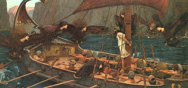 Одиссей на пути к Триникрии и сирены. Картина Дж. У. Ватерхауса